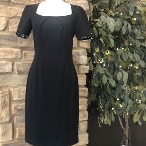 WHBM Dress Sheath Modern Little Black Dress Size 4